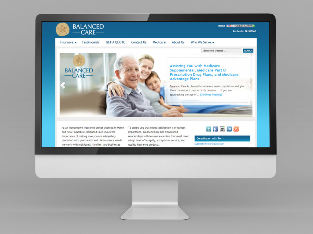 Balanced Care Health | Small Business WordPress Website