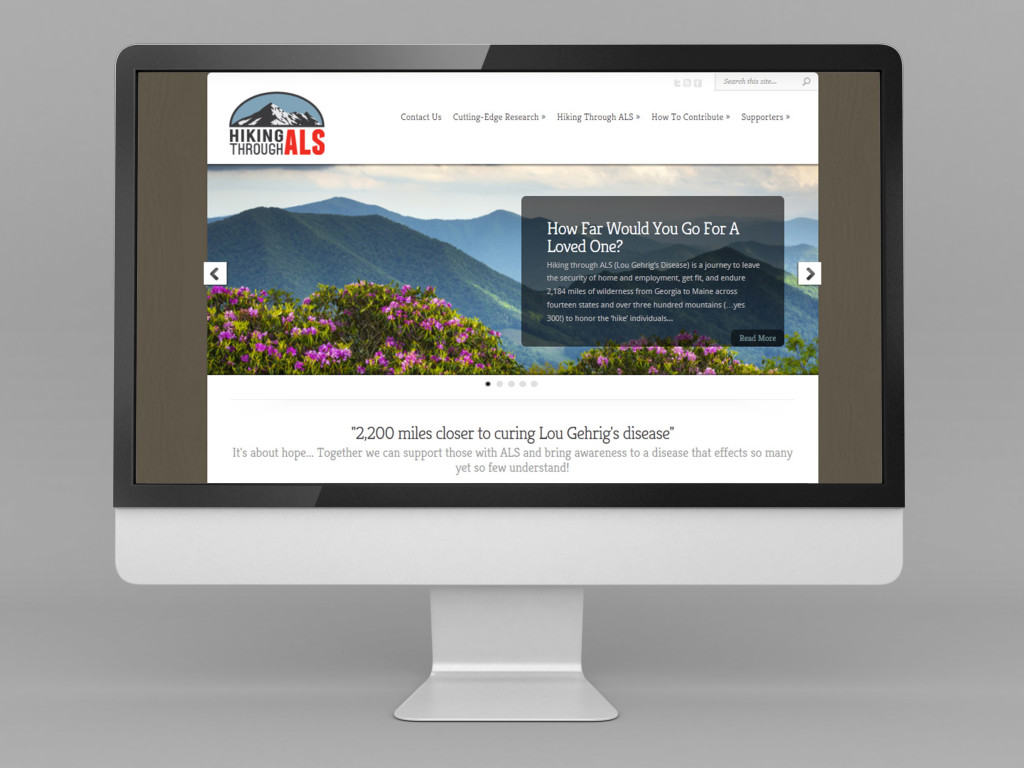 Hiking Through ALS | Small Business Website
