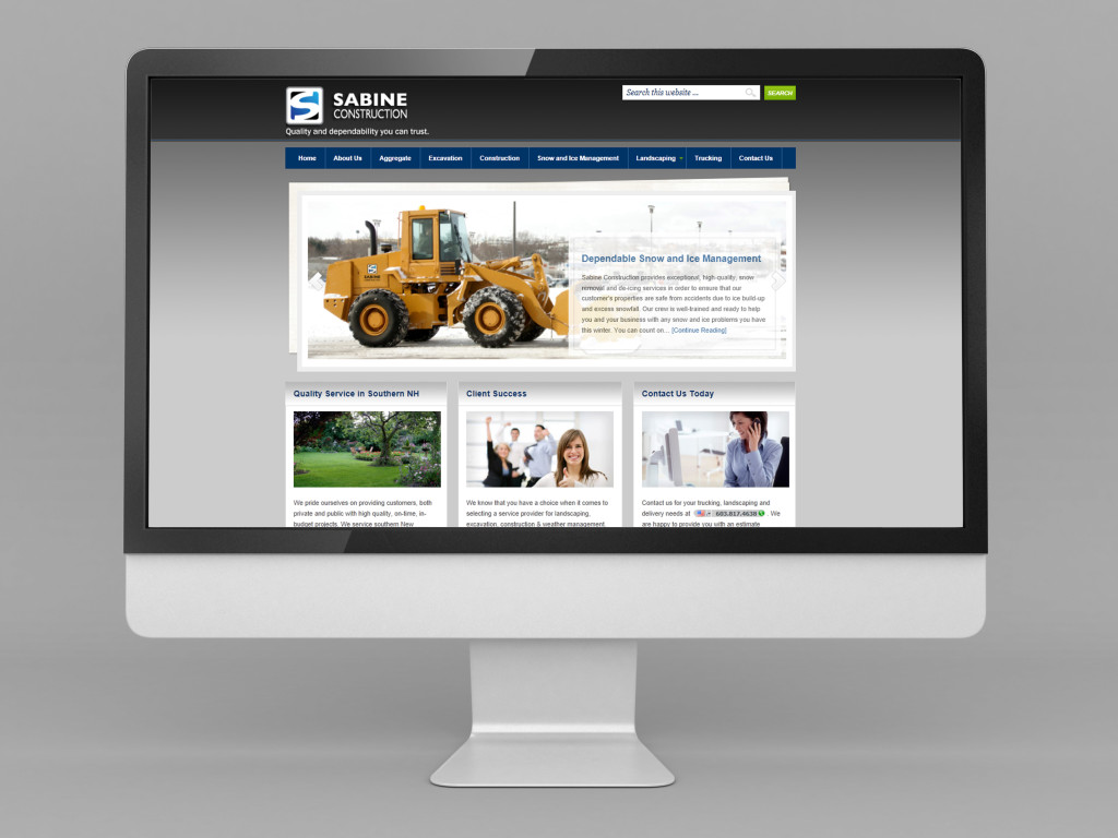 Small Business Website | Sabine Construction