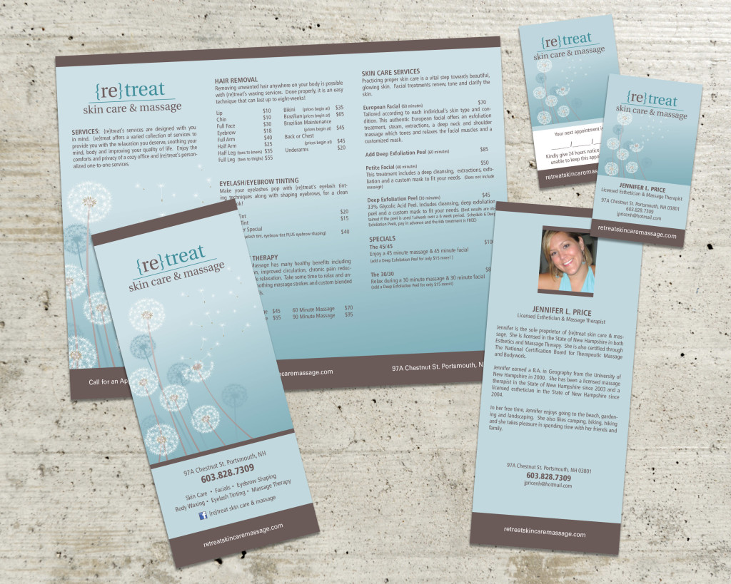 re}treat skin care and massage - Wedgewood Graphic Design | NH ...