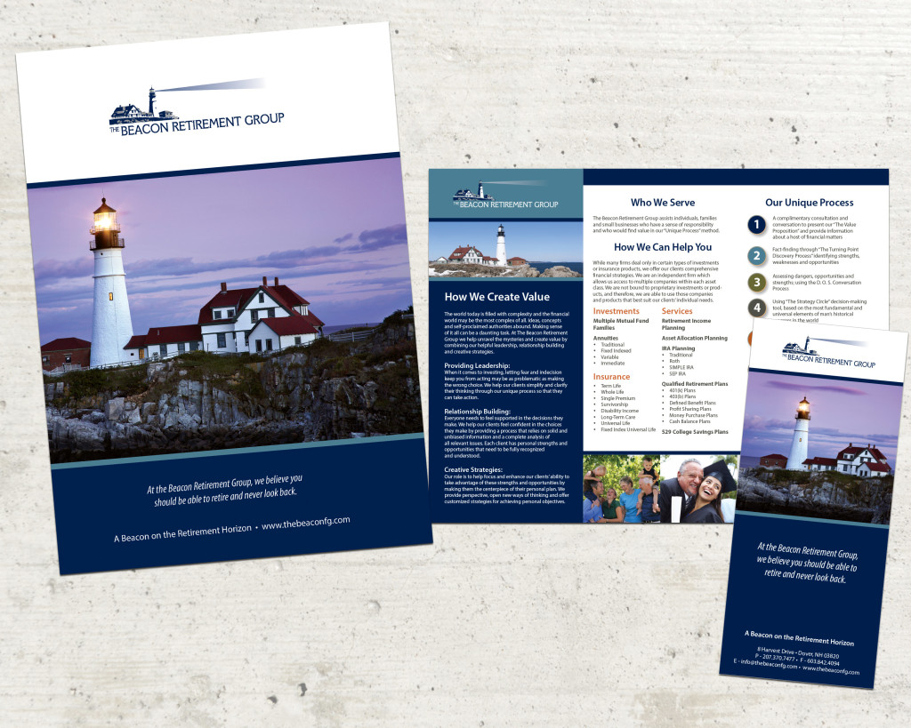 Beacon | Small Business Trifold Brochure and Pocket Folder Design